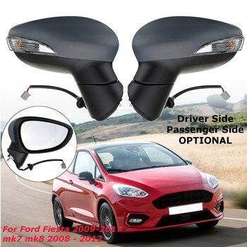 ขวา/ซ้ายรถกระจกมองข้างกระจกไฟฟ้าหรือผู้โดยสารด้านข้างสำหรับ Ford Fiesta 2009-2017 mk7 mk8 2008-2012
