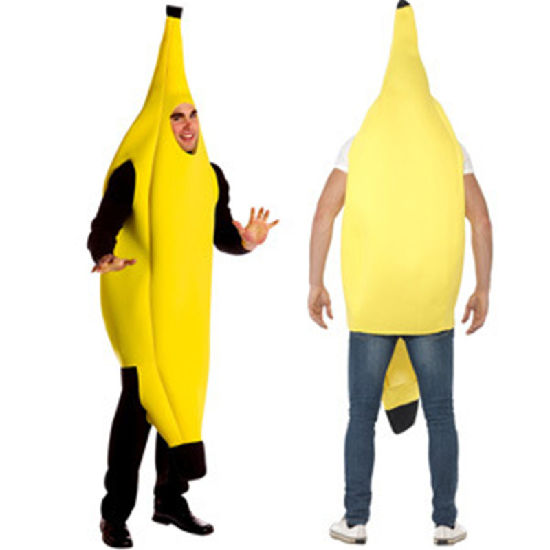 Takerlama Unisex Outfit Adult Fancy Dress Funny Banana Body Suit Costume Novelty Halloween Christmas Carnival Party Cosplay