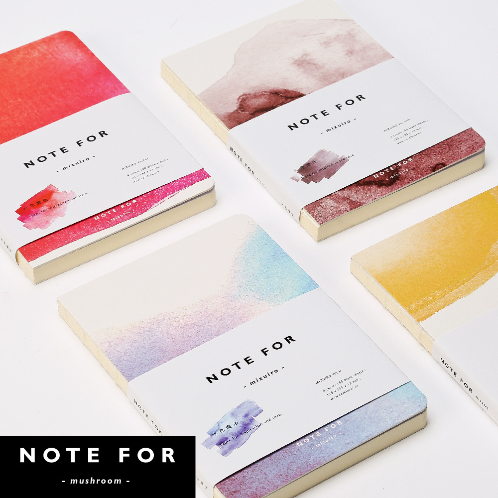 Watercolor paper coloring book - Note For Nuded Color The Magic Hand Books A5 J