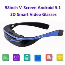 """Крутые 9"""" 16:9 виртуальный широкий экран Andriod 5,1 WiFi BT видео очки частный кинотеатр со слотом для карт Встроенная память 16 Гб"""