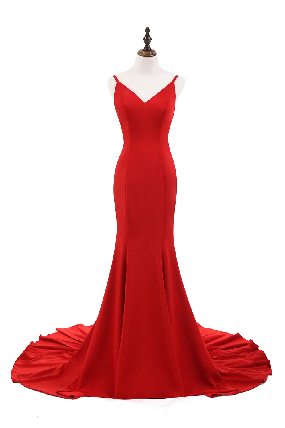 BeryLove Sexy Red Mermaid Evening Dresses Styles V Neck Backless ...