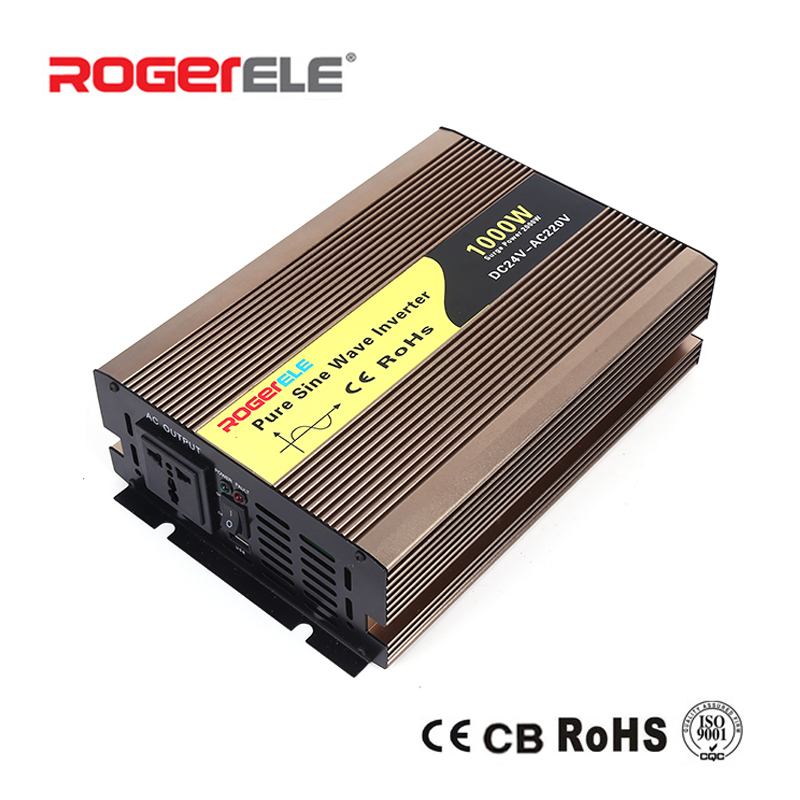 1000W 12VDC 24VDC to 110VAC 220VAC Pure Sine Wave Inverter Charged From Battery