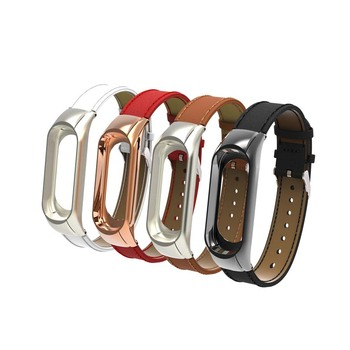For Mi Band 3 Strap Leather Wristband for Xiaomi Mi Band 3 Bracelet Replacement Band for Mi band 3 NFC Pulseira Accessories