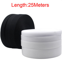 25Meters Black White Hook & Loop Tape/Roll - Sew On (Not Adhesive) Both Sides Included