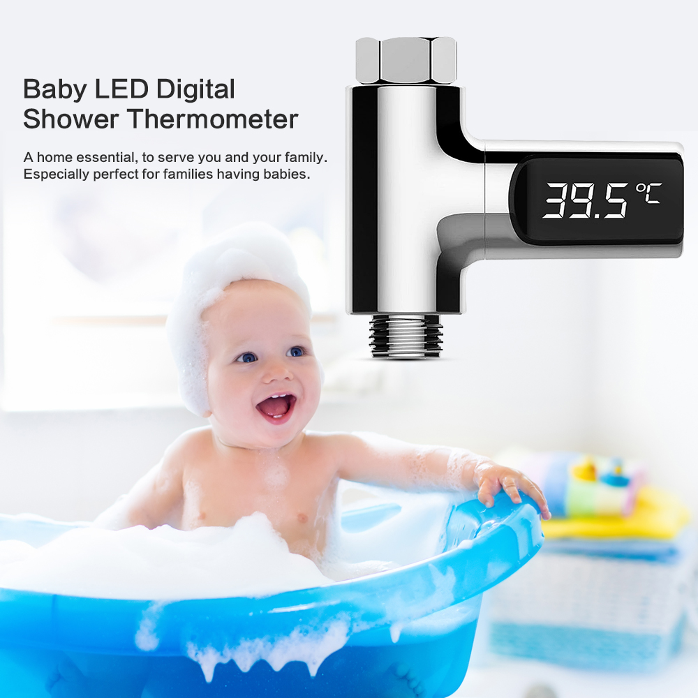 Back To Search Resultshome Improvement Hard-Working Smart Led Home Water Digital Shower Thermometer Flow Self-generating Electricity Water Temperature Meter Monitor For Baby Care Bathroom Fixtures