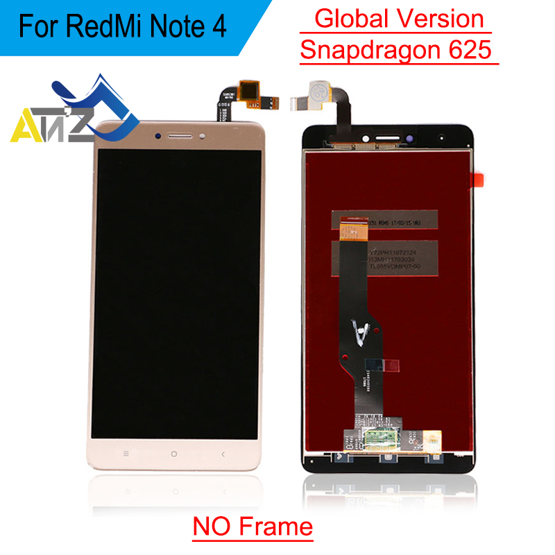 An'Z For <font><b>xiaomi</b></font> <font><b>Redmi</b></font> <font><b>Note</b></font> <font><b>4</b></font> global lcd display Snapdragon 625 Version replacement with frame <font><b>Pantalla</b></font> Glass Digitizer Assembly image