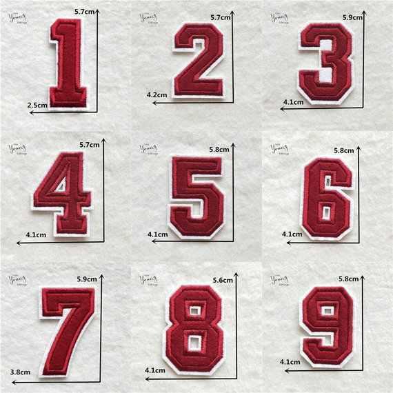 สีแดงปักเหล็กบนตัวอักษรหรือตัวเลข Applique Patch,เหล็กบนชื่อตัวอักษร Patch สำหรับเสื้อยืดหรือ Coat,เหล็กบน Patc