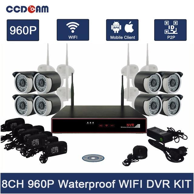 CCDCAM 8CH Wifi NVR Kit Complete CCTV Camera Set 1.3MP Wifi IP ...