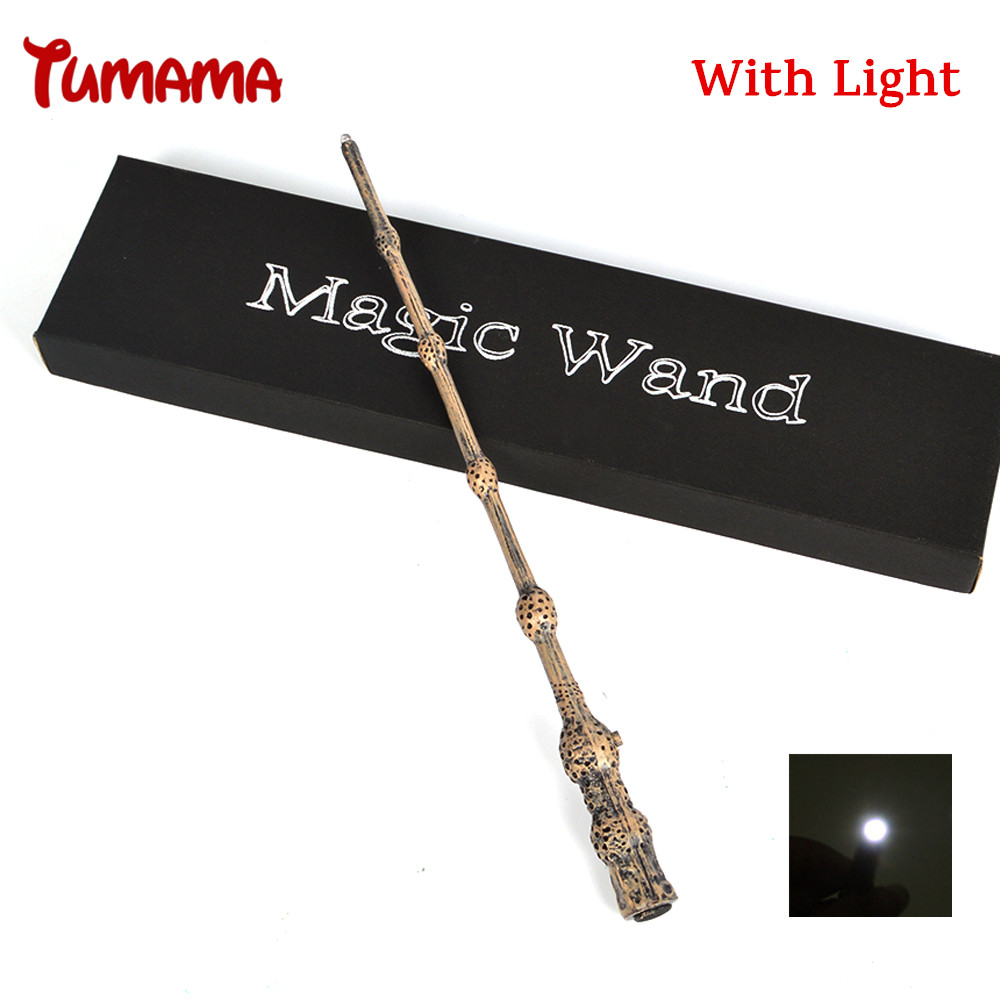 все цены на Harry Potter Magic Wand Cosplay Led Light Albus Dumbledore The Elder Wand Light Kid COS Magical Tricks Gift With Original Box онлайн