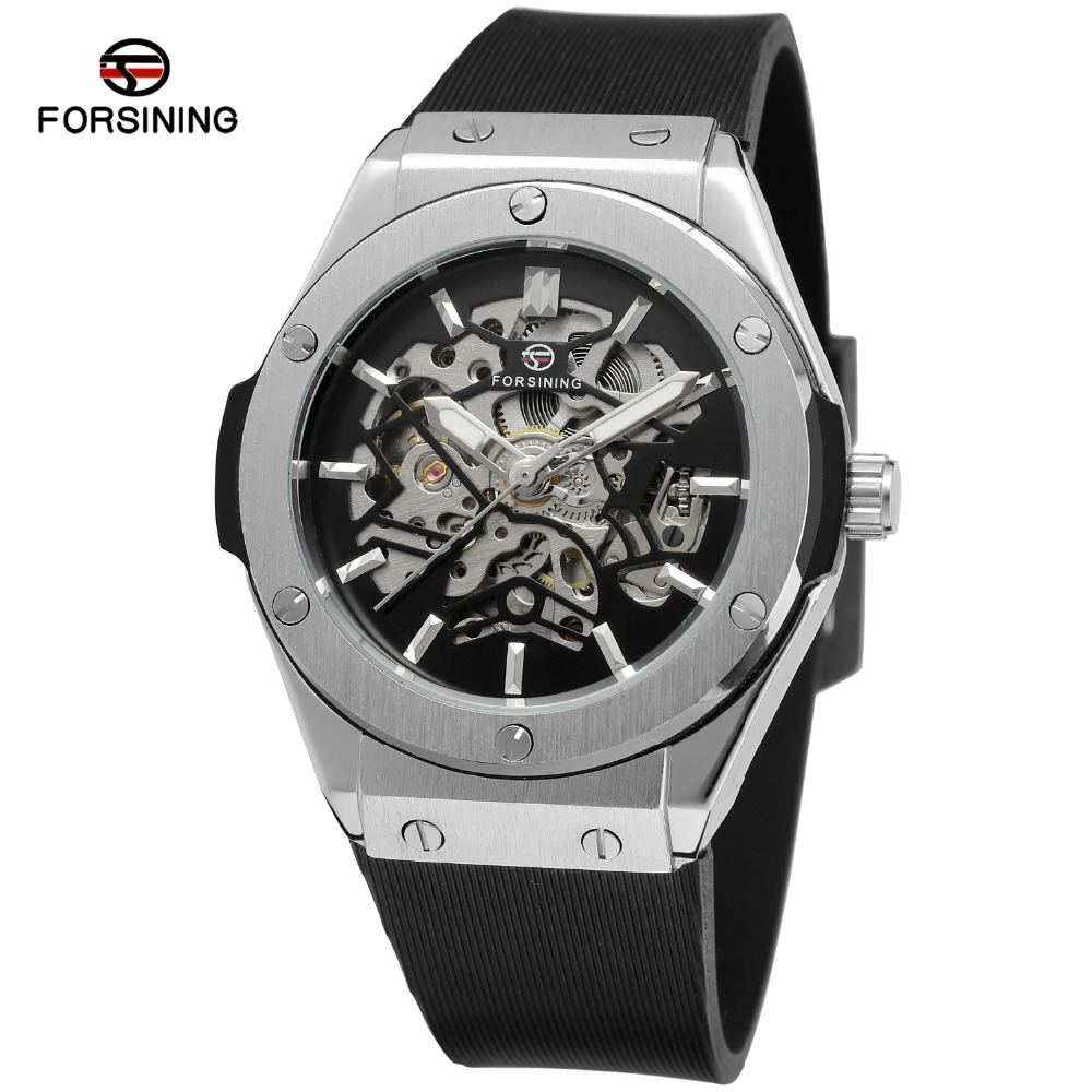 Top Brand Luxury Watches Men Automatic Skeleton Watch relogio masculino Male SiliconeStrap mechanical Watch  Sport Clock 2017 winner top brand luxury blue men watch automatic skeleton mechanical wristwatch male man watches hour relogio masculino