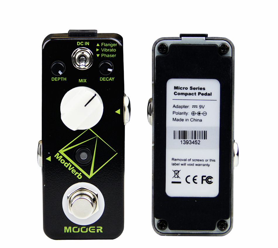 Mooer Modverb High-quality Pristine Digital Reverb Guitar Effects Pedal with Flanger/Vibrato/Phaser Effect Guitar Accessories aural dream super flanger digital pedal with 18 flanger effects guitar pedal