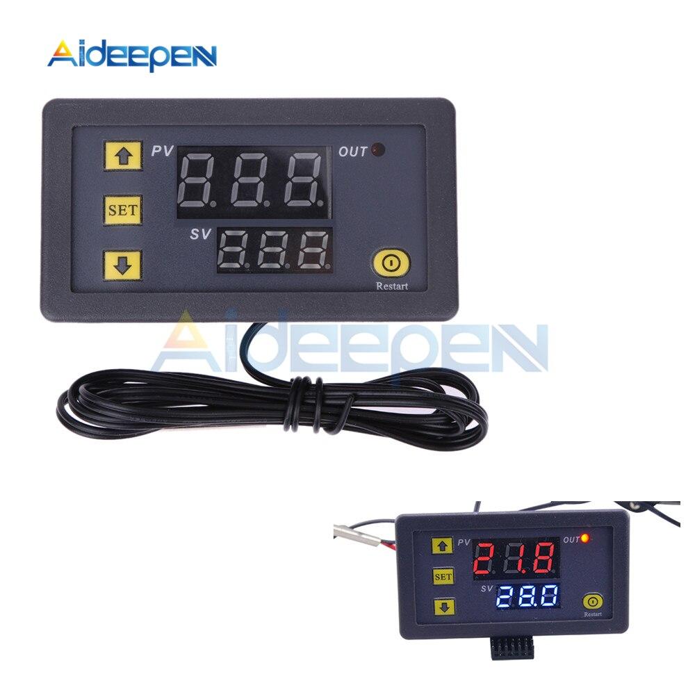 Controlador Digital de temperatura W3230 DC 12V, regulador de termostato, Control de enfriamiento de calefacción, Sensor de instrumentos, pantalla LED