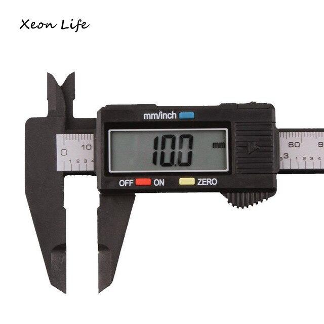 ISHOWTIENDA 150mm/6 inch 245x80x15mm In Fibra di Carbonio LCD Elettronico Digita