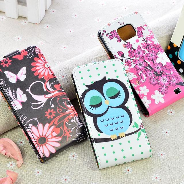 Fashion Flip PU Leather Case For Samsung Galaxy S2 SII i9100 GT-i9100 Cover Vertical Magnetic Phone Bag 5 Colors