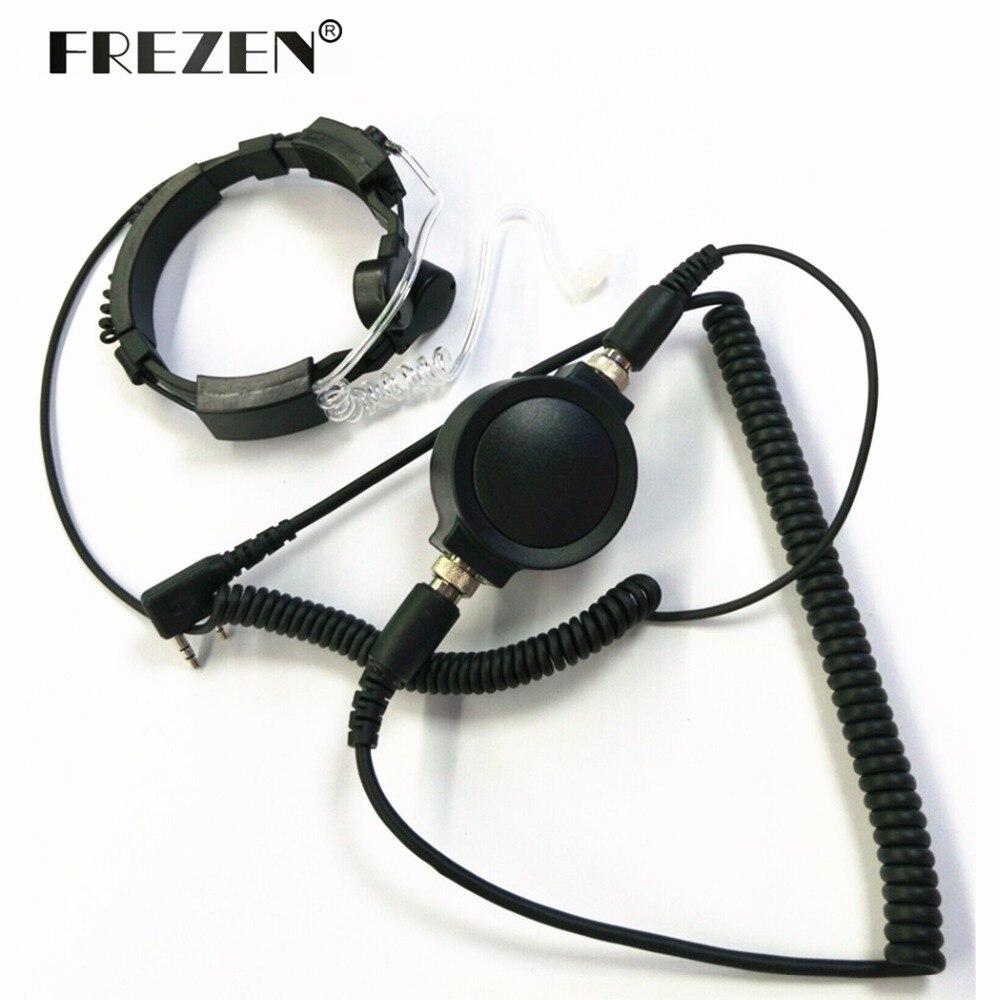 Oreillette secrète chaude Grade tactique gorge Mic aisselles casque PTT avec doigt PTT pour KENWOOD Radio baofeng BF UV-5R