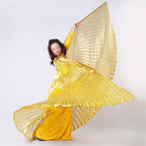 Egyptian Egypt Golden Belly Dance Dress Costume Isis Angle Wings (NO STICKS)