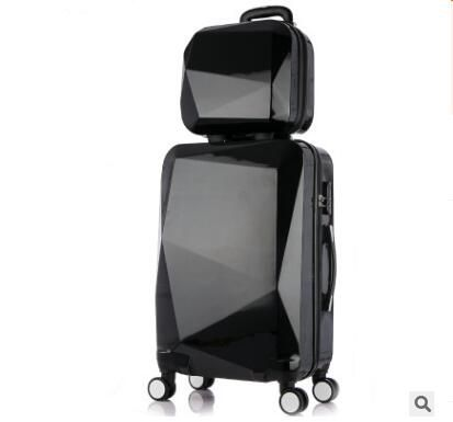 2024 Inch Women Travel Luggage Trolley suitcase Luxury Brand Boarding Case Rolling luggage Case On Wheels With Cosmetic Case
