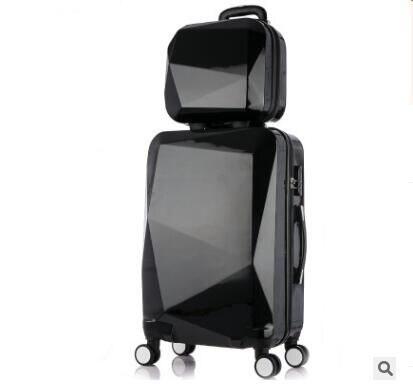 """20 """"24""""インチ女性旅行荷物トロリースーツケース高級ブランド搭乗ケースローリング荷物ケース上の車輪付き化粧品ケース  グループ上の スーツケース & バッグ からの キャスターバッグ の中 1"""