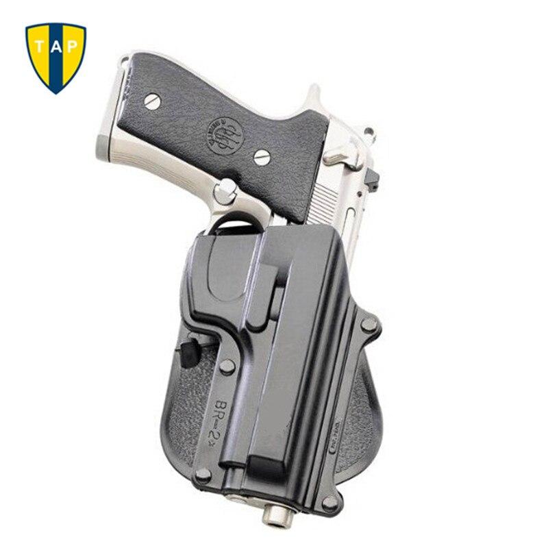 Étui à pistolet tactique BR2 Beretta 92/96 (sauf Brig & Elite) étui à pagaie Taurus 92/99/Cz 75B. 40 Double pochette pour magazines 6909