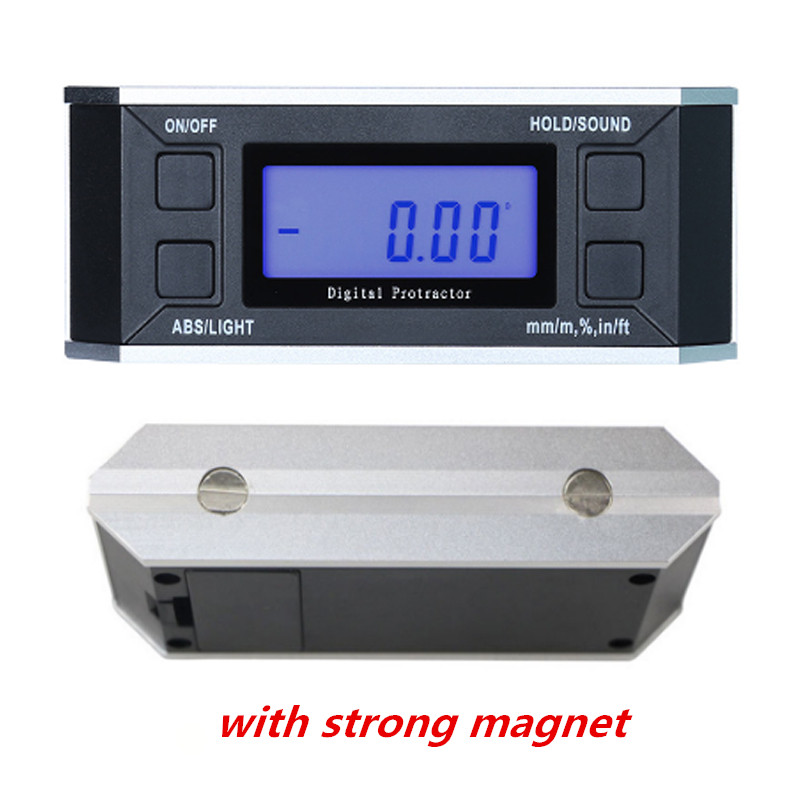 IP54 digital protractor inclinometer Level box with magnet illuminate digital angle finder Bevel Box cube gauge