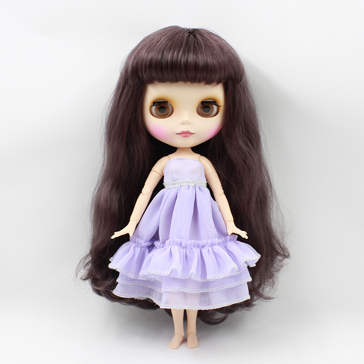 Beaukiss Nude Blyth doll joint body Deep purple long hair 12inch fashion doll model diy toys for girls gifts deep purple deep purple stormbringer 35th anniversary edition cd dvd