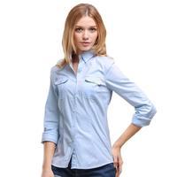 VERI GUDE Spring 2014 Women S Turn Down Collar Shirt Pure Cotton Long Sleeve Shirt Solid