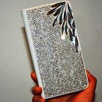 Luxuxbling Rhinestone-diamanten für samsung galaxy S6 Edge S5 S4 S3 G9250 Note2 Anmerkung3 Hinweis4 brieftasche flip leder Kristall fall