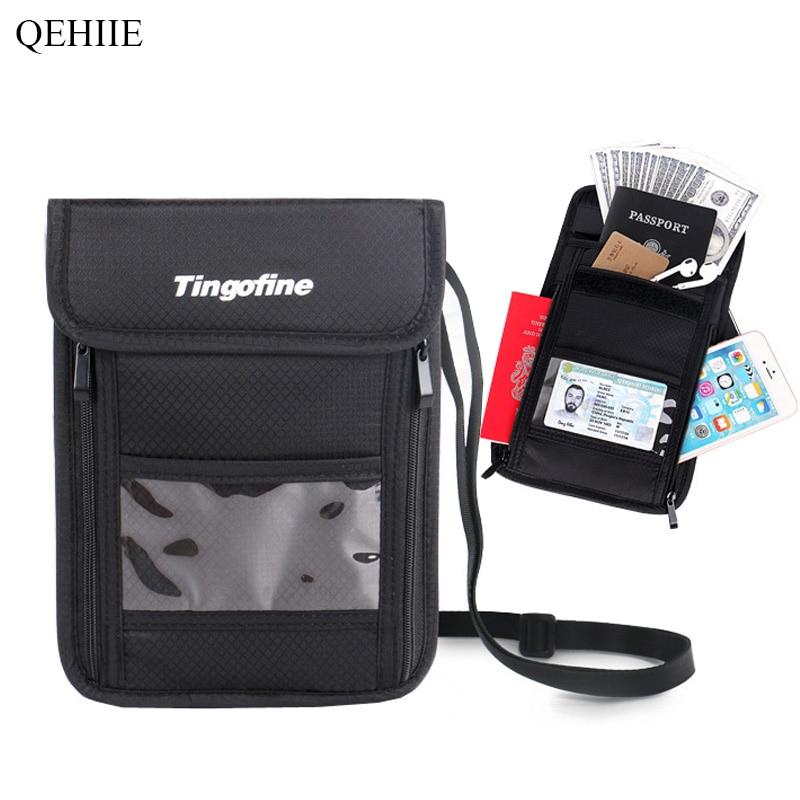 QEHIIE Fashion Travel Passportar Multifunktionella stöldskyddslåda - Plånböcker