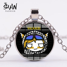 SIAN High Quality Game Rainbow Six Necklace Siege 6 Symbol Figures 3D Printed Glass Cabochon Pendant Necklace Women Men Jewelry(China)