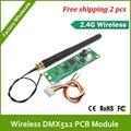 Dhl быстрая бесплатная доставка 2.4 г PCB-LED DMX беспроводной приемник / беспроводной receivertransmitter