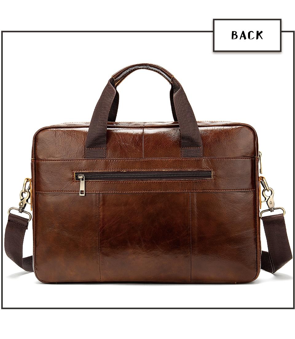 HTB10fcRRzDpK1RjSZFrq6y78VXa8 WESTAL Bag men's Genuine Leather briefcase Male man laptop bag natural Leather for men Messenger bags men's briefcases 2019