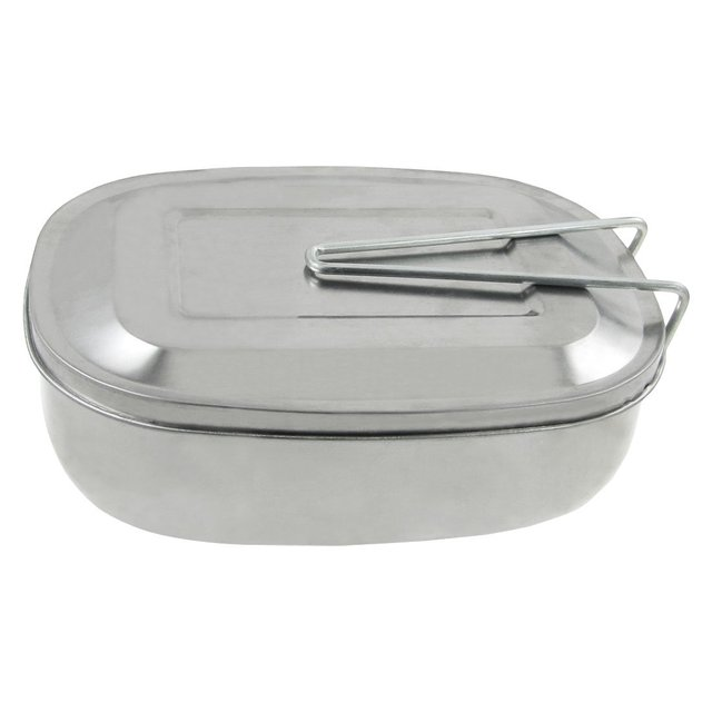 Wholesale 5* Silver Tone Picnic Case Mess Tin Lunch Box w Handle