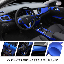 E-FOUR Car Interior Sticker Electroplate Flim Metal Appeal Colors Mouldings Interior&Exterior Stick Styling Protect Decorate Car protect flim 6av7 885 2 for simatic hmi ipc 577c