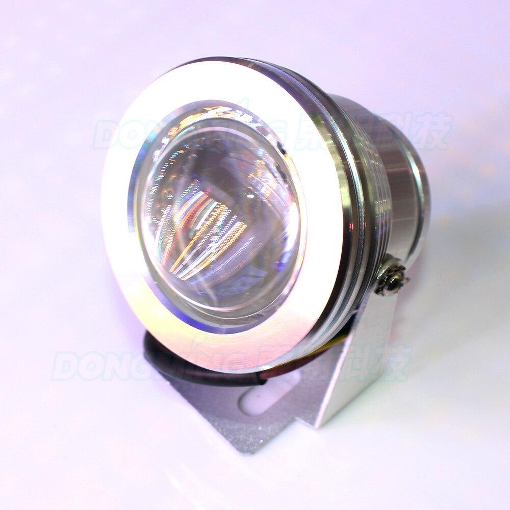 10 pcs led underwater silver cover led piscina lampada luzes subaquaticas ip68 10 w led subaquatica