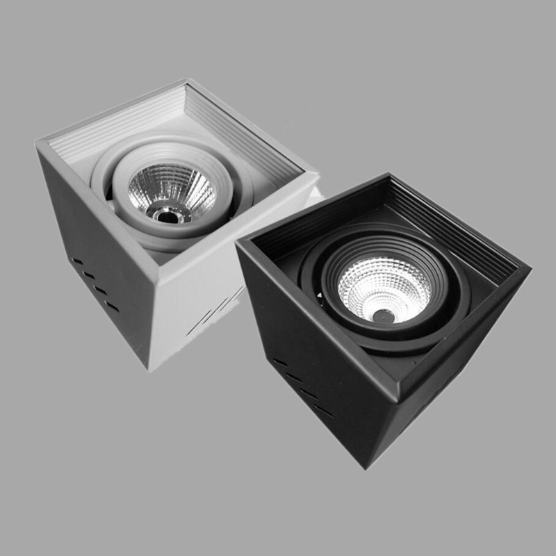 square round cob led downlights 12w surface mounted led ceiling lamps spot light led downlights. Black Bedroom Furniture Sets. Home Design Ideas