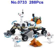 0733 288pcs aviação cidade sonda espacial mars rover veículo building blocks Toy