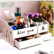 Home desktop cosmetic boxes Draw-out type make-up box shelf large jewelry storage
