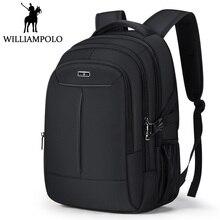 Williampolo Laptop Backpack Men Bagpack Fashion Casual Travel Back Pack USB Charge Design Large Capacity Men Double Shoulder Bag цена и фото