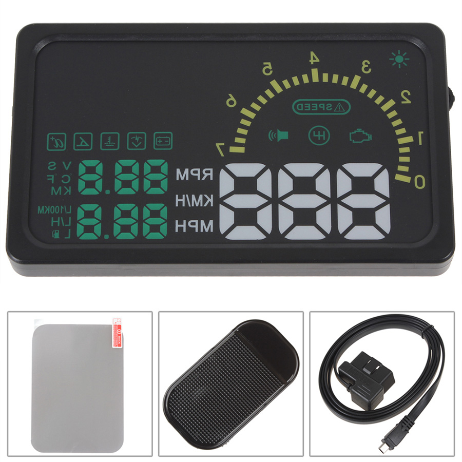 universal i5 auto car hud head up 6 us420. Black Bedroom Furniture Sets. Home Design Ideas