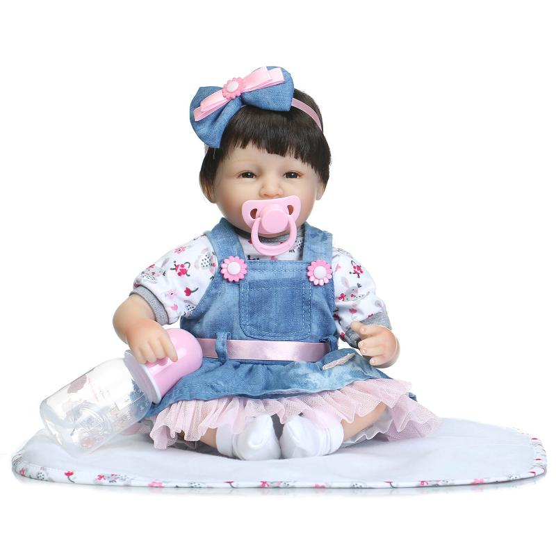 18 42cm Baby-reborn girl dolls Toys soft body silicone reborn babies children gift Bebe Toys bonecas brinquedo menina pretty alice girl doll reborn 40cm soft cloth body silicone newborn dolls best children gift dolls bebe bonecas menina