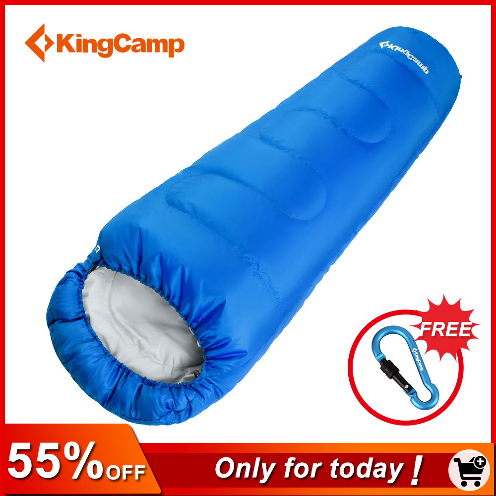 KingCamp Ultralight Portable Mummy Sleeping Bag Camping Adult Cotton Winter Warm Lazy Bag Outdoor Double Sleeping Bags 215*80*55 kingcamp 220x75cm camping sleeping bag polyester winter warm outdoor sleeping bags with compression bag