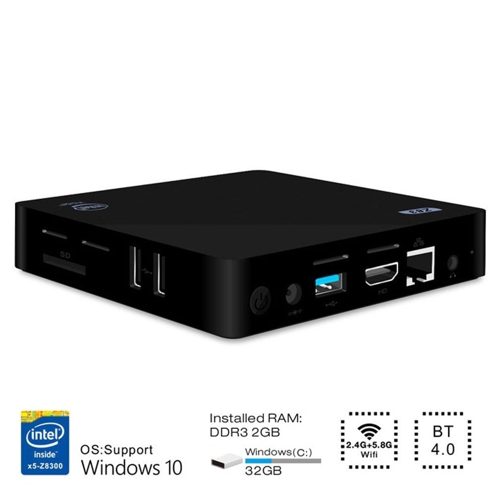 Z83II Mini PC TV Box Intel Atom X5-Z8350 Quad-core 4K 1000M Ethernet 64Bit 2.4G 5.8G Dual Band WiFi Set-top BoxZ83II Mini PC TV Box Intel Atom X5-Z8350 Quad-core 4K 1000M Ethernet 64Bit 2.4G 5.8G Dual Band WiFi Set-top Box