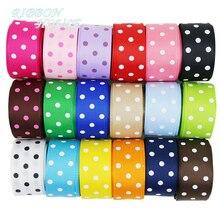 (10 yards/lot) Cartoon Polka Dots Printed Grosgrain Ribbon Lovely Series Ribbons Wholesale (22/38mm)