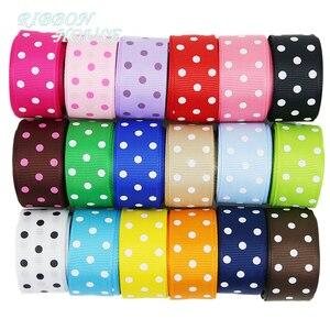 Image 1 - (10 yards/lot) Cartoon Polka Dots Printed Grosgrain Ribbon Lovely Series Ribbons Wholesale (22/38mm)