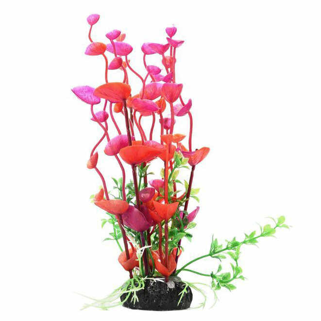 人造プラスチック植物水槽用 14.2 インチ高さ水槽 akvaryum malzemeleri 装飾石 islande