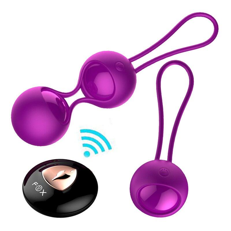 Silicone Kegel Balls Vaginal Tight Exercise vibrating Eggs Remote Control Geisha Ball Ben Wa Balls Sex Toys Bladder Control Ball
