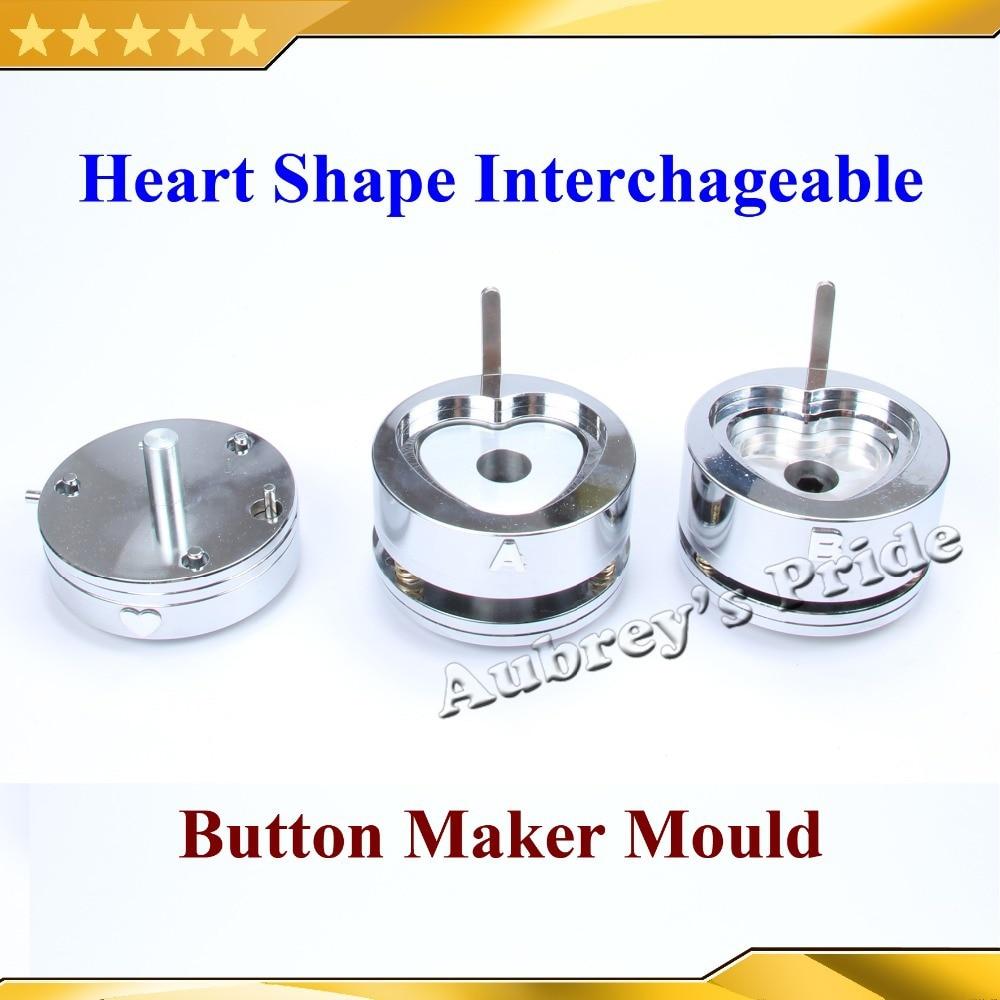 Aliexpress.com : Buy Heart Shaped 52x57mm Interchangeable ...