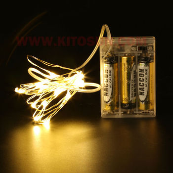 10 Pieces/Lot 2M/20Lights LED Non-Blinking Decorative Light Strings For Party Wedding Centerpiece