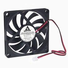 100pcs/Lot  24volt 80MM Durability GDT 8010S Brushless Ventilation DC Fan 8cm 80MM*80MM*10mm dc 24v fan