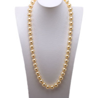 charming Pearl Necklace 12mm Round South Seashell Pearl for Women White Coffee Golden Gray Black Pearl Necklace 28